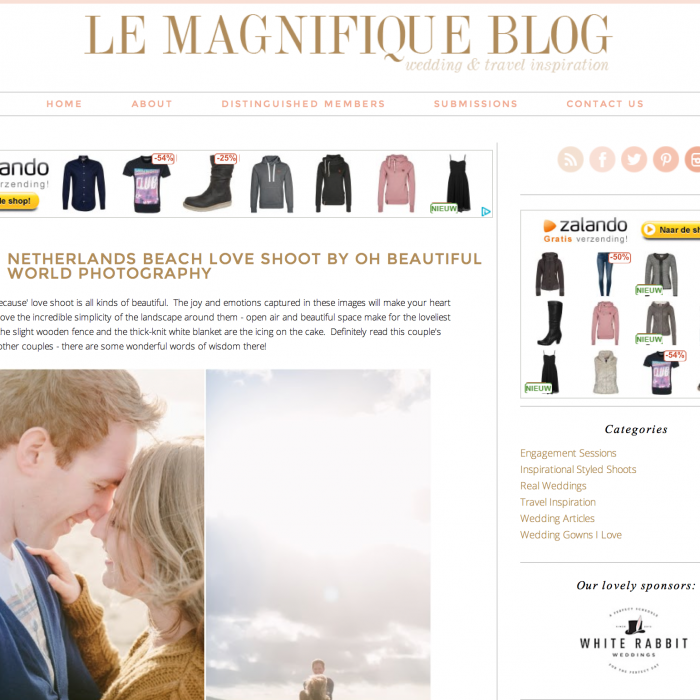 Featured on Wedding blogs: Le Magnifique, Arnhems Meisje & You May French Kiss The Bride