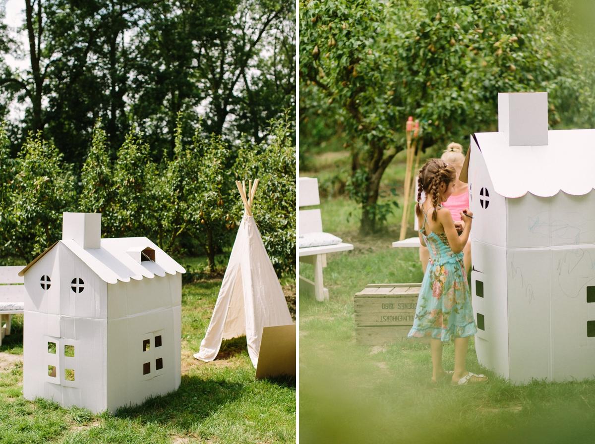 Spelen op een kindvriendelijke bruiloft