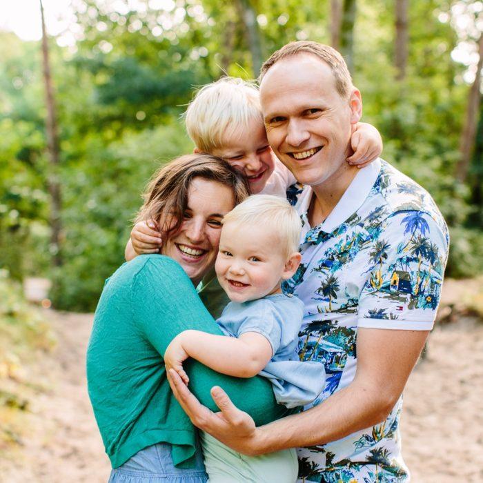 Ongedwongen gezinsshoot in de Soesterduinen