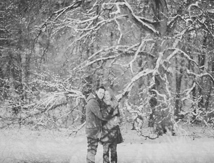 Mini loveshoot in de sneeuw