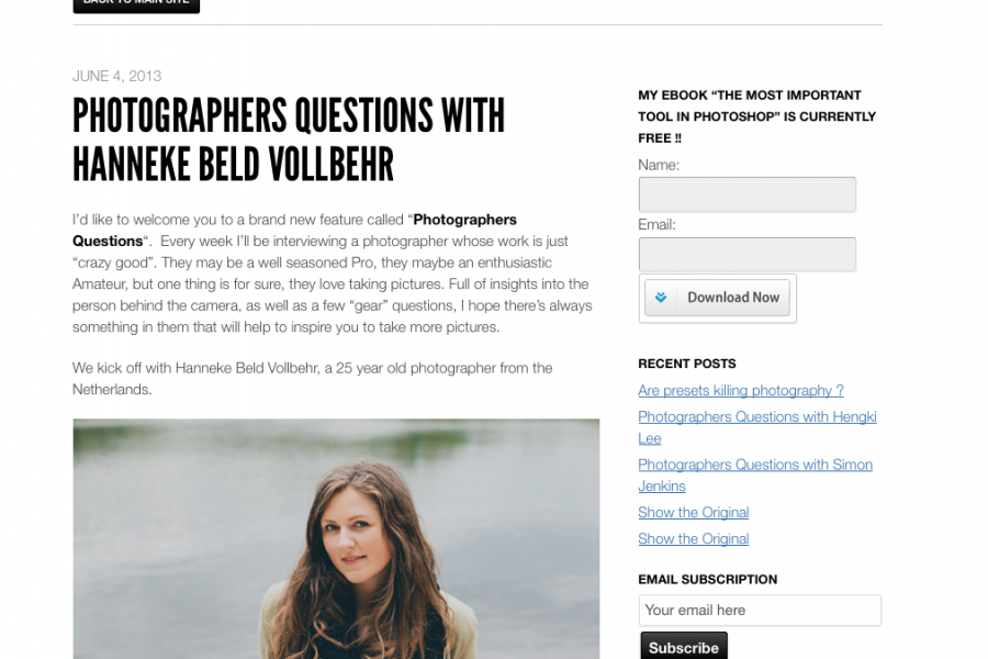 Interview   Antony Northcutt Blog - Photographers Questions