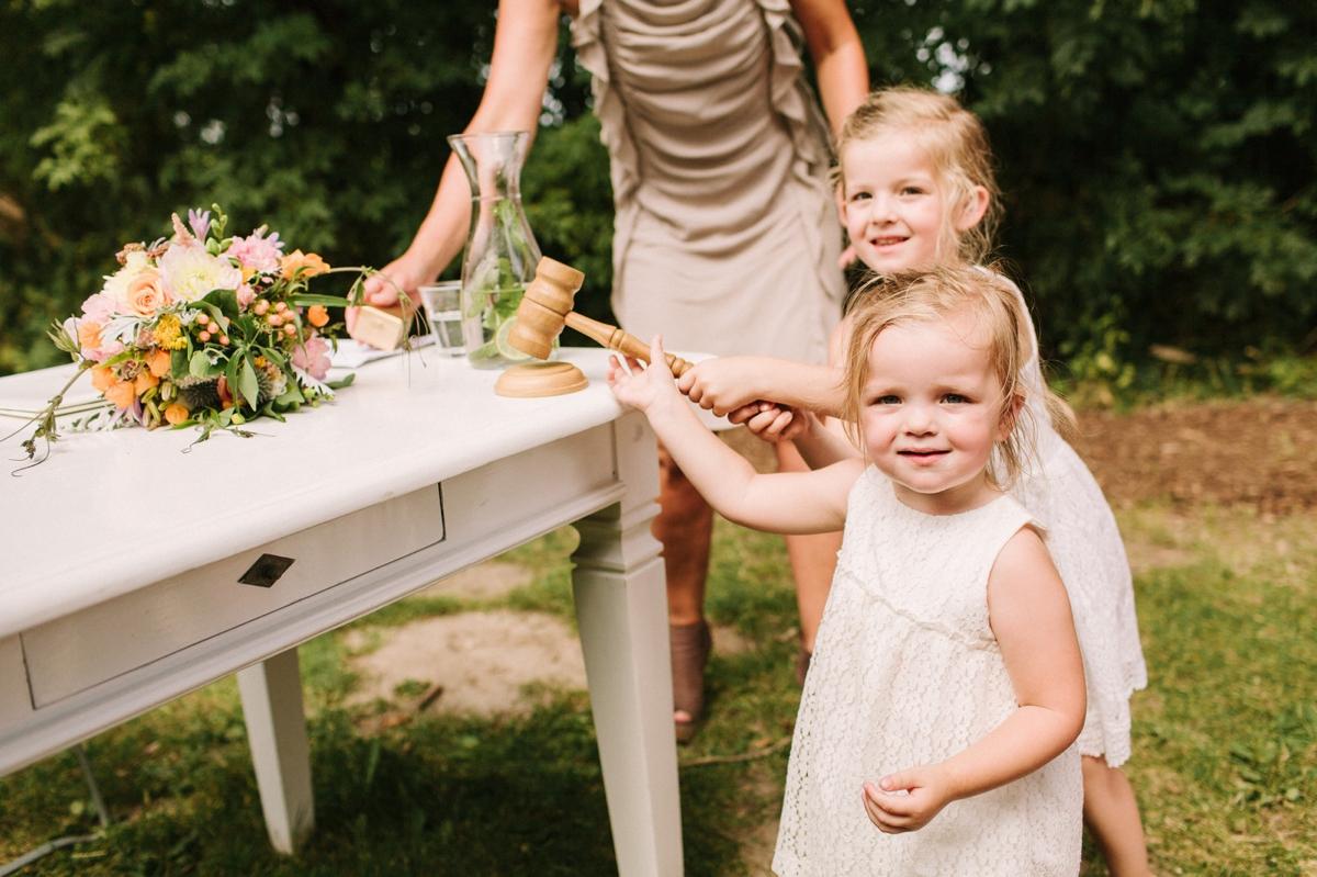Rol kinderen tijdens de ceremonie