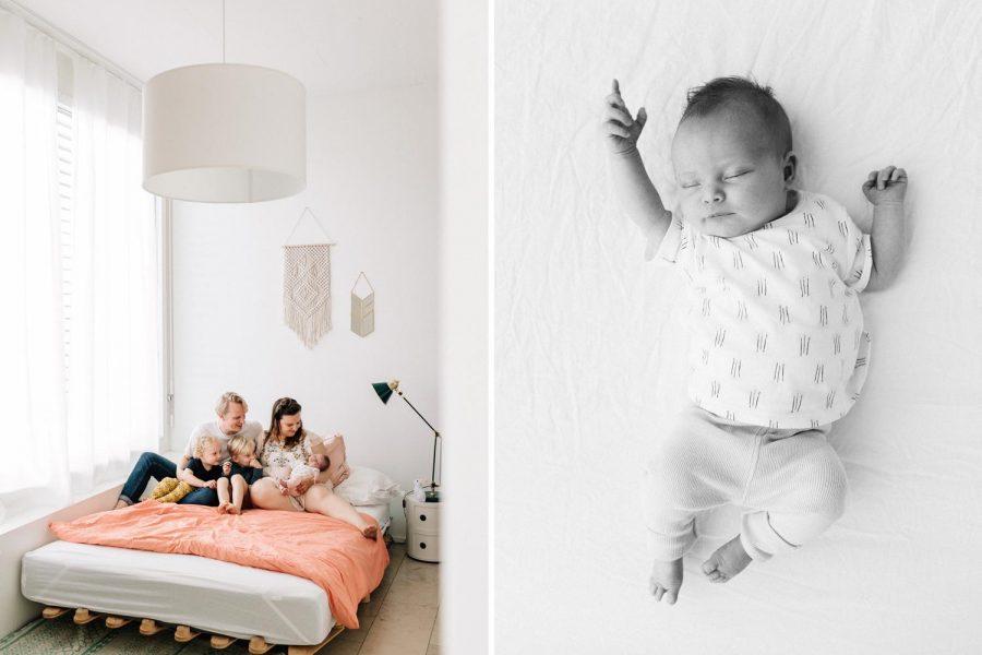 Ongedwongen Newbornshoot in Zurich, Zwitserland